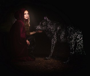 Candice Bees - Little Red Riding Hood meets the Wolf
